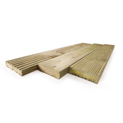 32MM X 125MM X 4.8M SMOOTH AND GROOVE GARDEN TIMBER DECKING