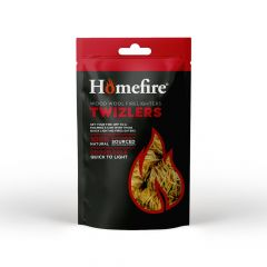 HOMEFIRE BOX TWIZLERS NATURAL FIRELIGHTERS 300GM