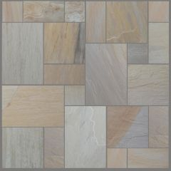 ESSENTIAL MAPLE BLEND SANDSTONE PAVING PATIO STONE 20.78M2 CALIBRATED PROJECT PACK