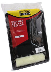 """PAINT ROLLER & TRAY KIT SINGLE HEAD POLYESTER 9"""" X 1.5"""""""