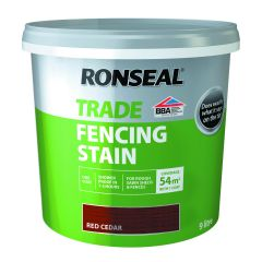 RONSEAL TRADE FENCING STAIN RED CEDAR 9LTR