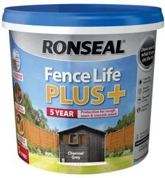 RONSEAL FENCE LIFE PLUS CHARCOAL GREY 5LT