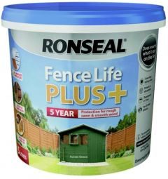 RONSEAL FENCE LIFE PLUS FOREST GREEN 5LT