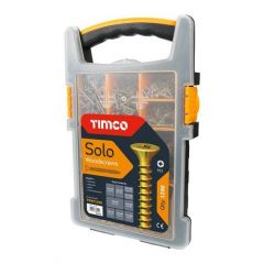TIMCO 1200 ASSORTED SOLO WOOD SCREWS MIXED TRAY