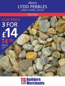 TG POLYBAG LYDD 20MM (OYSTER/PEARL) DECORATIVE AGGREGATE