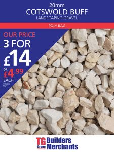 TG POLYBAG 20MM COTSWOLD BUFF DECORATIVE AGGREGATE