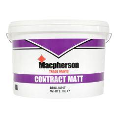 MACPHERSON CONTRACT MATT EMULSION BRILLIANT WHITE PAINT 10 LTR